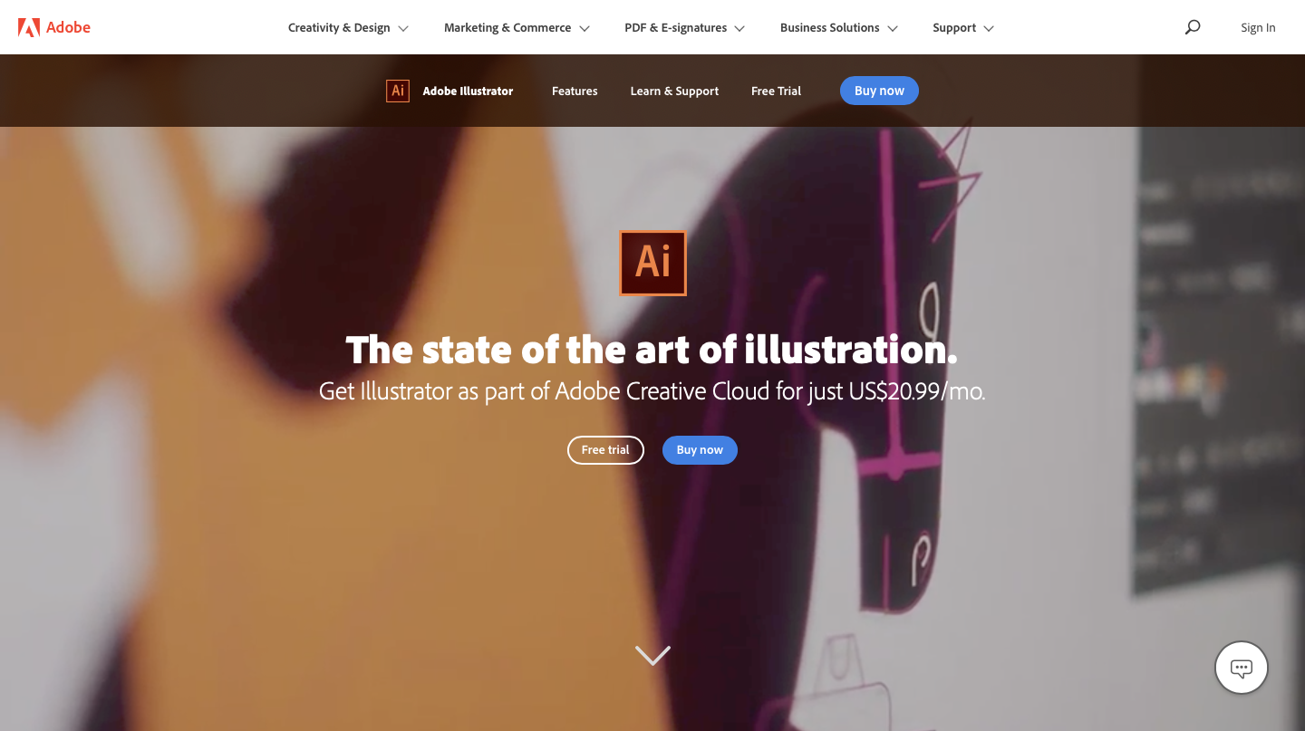Adobe Illustrator is the best graphic design software of 2020