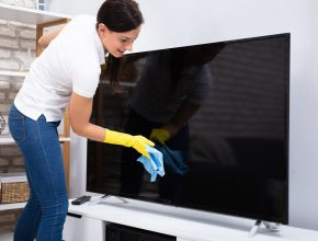 Clean A T.V. Screen