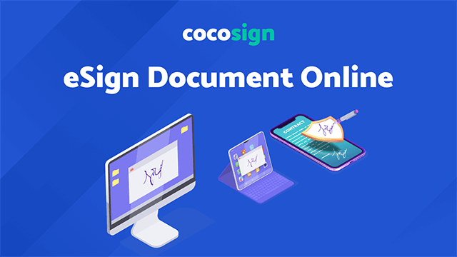 E-sign the documents