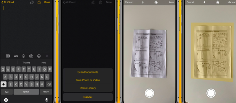 how to scan documents on iPhone