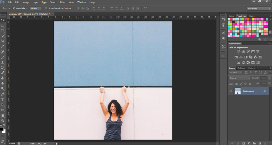 change background color in Adobe